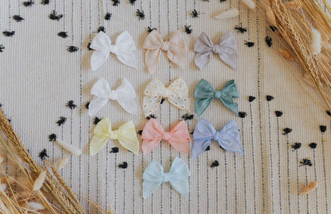 Mini Isla Bow Clip (Plain)