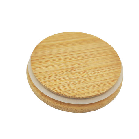 Bamboo Lid for Double Wall Glass