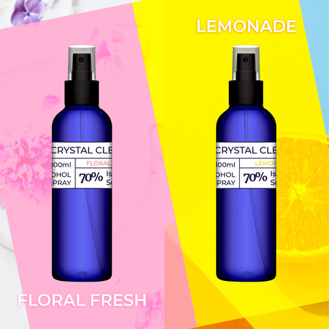 Crystal Clean Scented Alcohol Spray 100ml