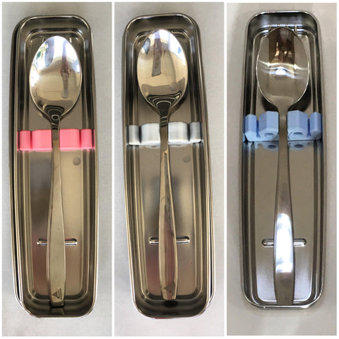 Keeps All Stainless Spoon-Fork with Case & Cover Set