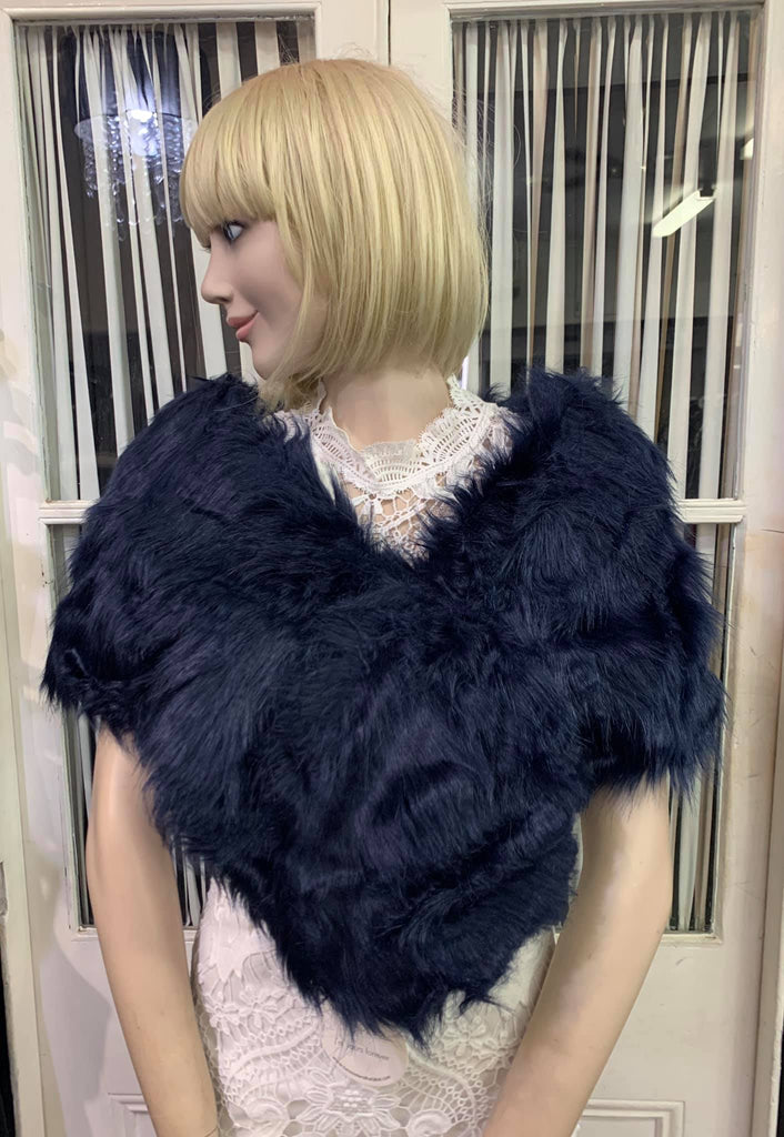 SM Faux Fur Navy