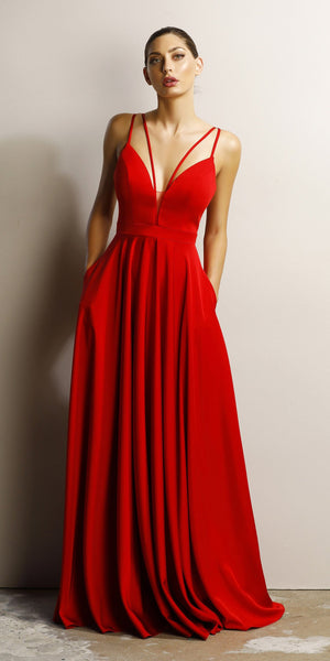 Arabelle Gown (red)