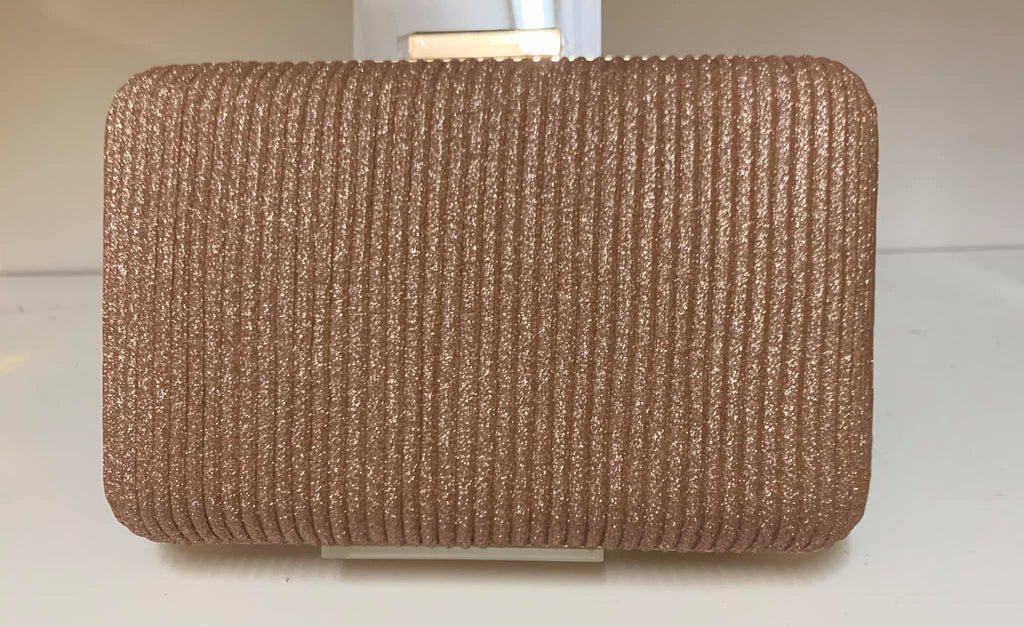 Smooche clutch ribbed Rose Gold