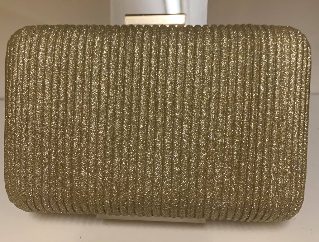 Smooche clutch ribbed Gold