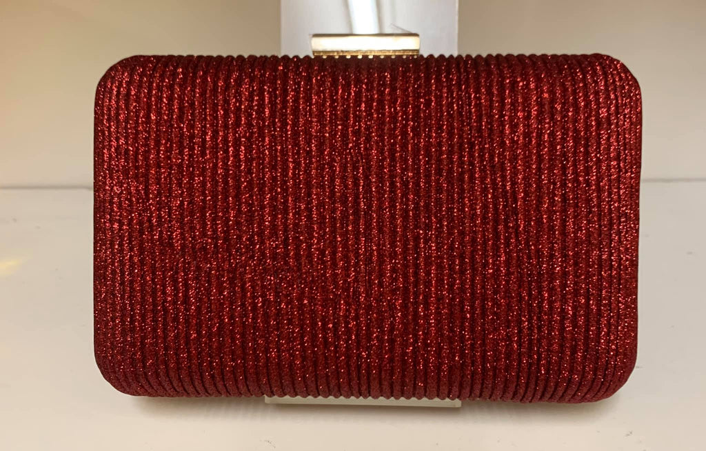 Smooche clutch ribbed Red