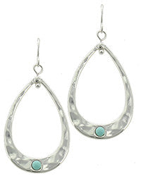 Smaller Silver Hoop Earring