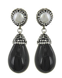 Black Bling Earring