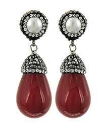 Red Bling Earring