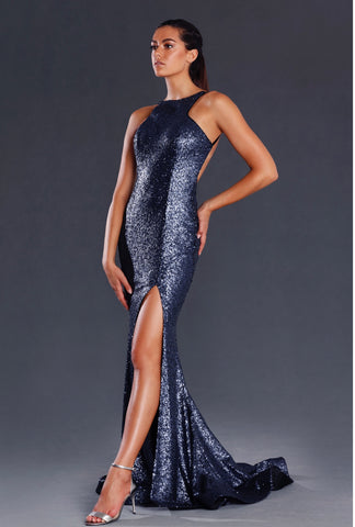 Charli Gown (navy)