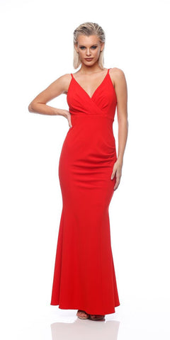 Entice Tucked Maxi (Red)