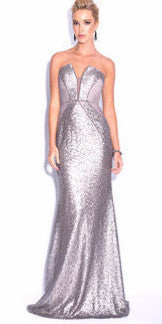 Anna Panelled Sequin Sweetheart Gown