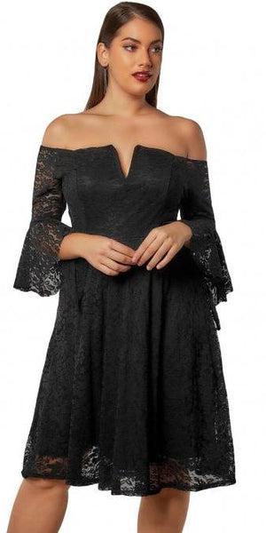 Aurora Flute Sleeve Dress