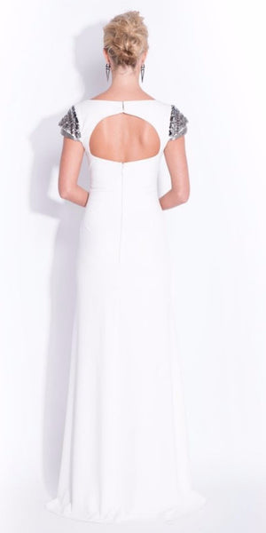 Isabeau Embellished Sleeve Fitted Maxi