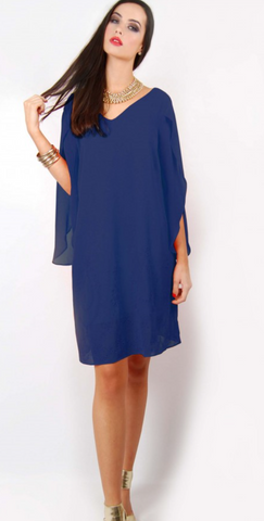 Overlay Dress (blue)
