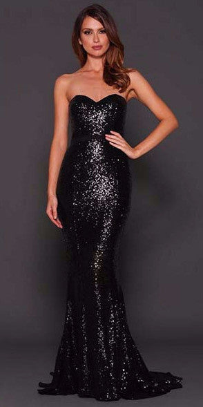 Chyna Gown (black sequin)