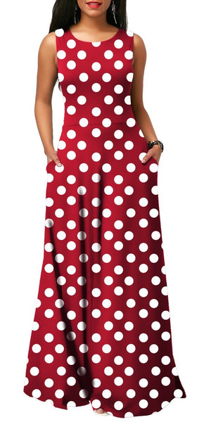 Polka Dot Maxi (RED)