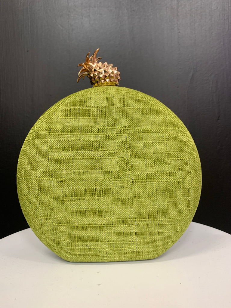 Round Pineapple Clutch (lime)
