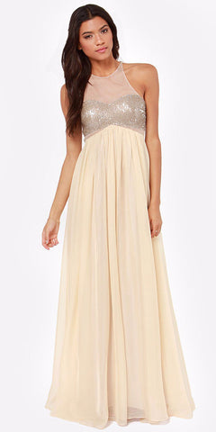 Janet Mesh Sequin Gown