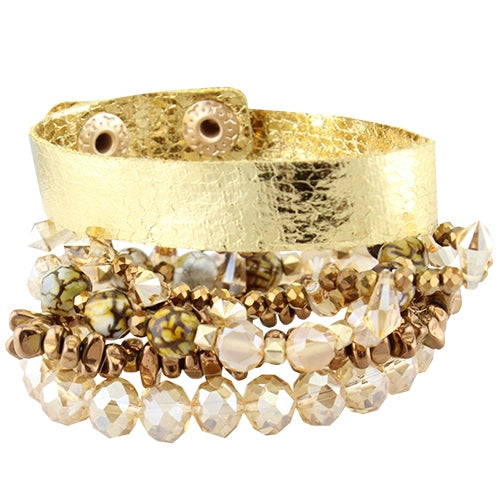 {GIFTS OF GOLD} GOLD Stacked Bracelet Set