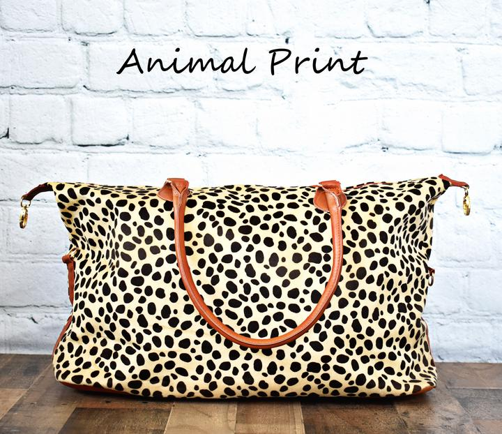 """Dora"" {ANIMAL PRINT} Large Weekender Bag"