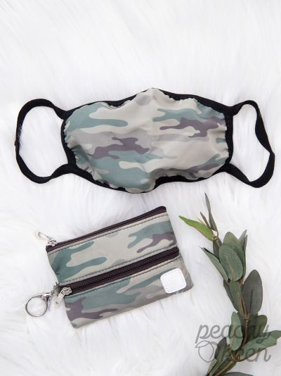 Mini Versi Keychain Bag + Face Mask {CAMO}