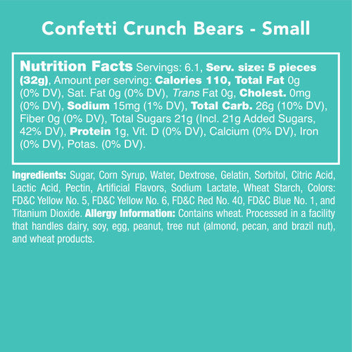 Candy Club {CONFETTI CRUNCH BEARS}
