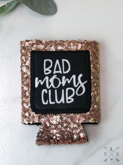 Bad Moms Club ROSE GOLD SEQUINS Can Cooler