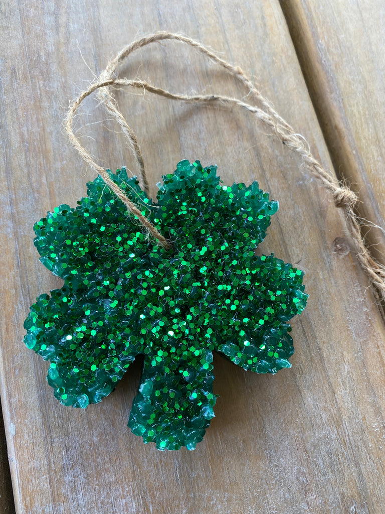 {SHAMROCK SCENTS} Green Glitter Shamrock Car Scent