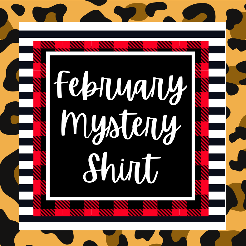 February 2021 Mystery Shirt {Pre-Order:  Ships First Week of February/Please Order Separately/Orders Are Not Split Up!}