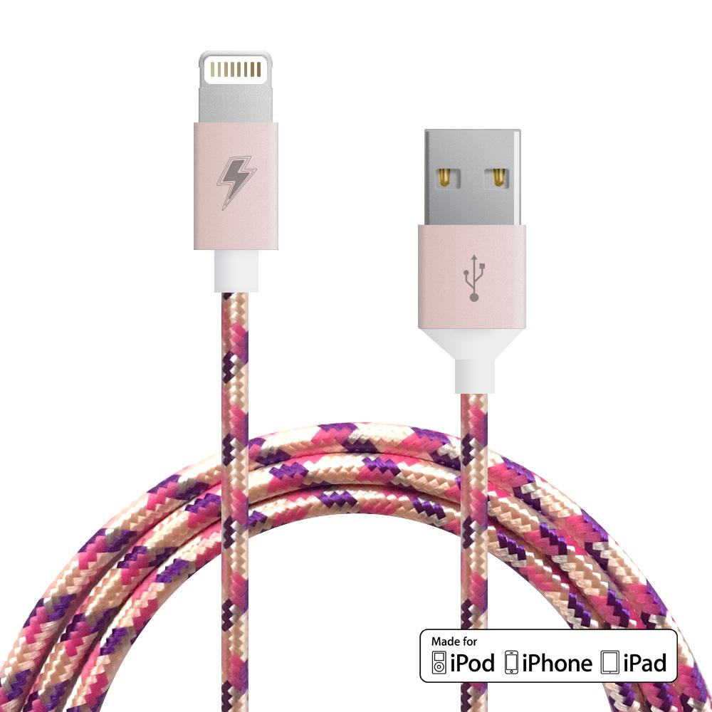 {PURPLE ROSE GOLD} Lightning Cable [5 ft / 1.5m length]