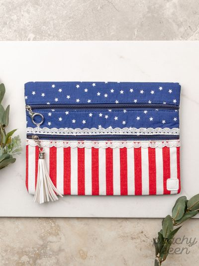 {SWEET LAND OF LIBERTY} Patriotic Double Zipper Bag