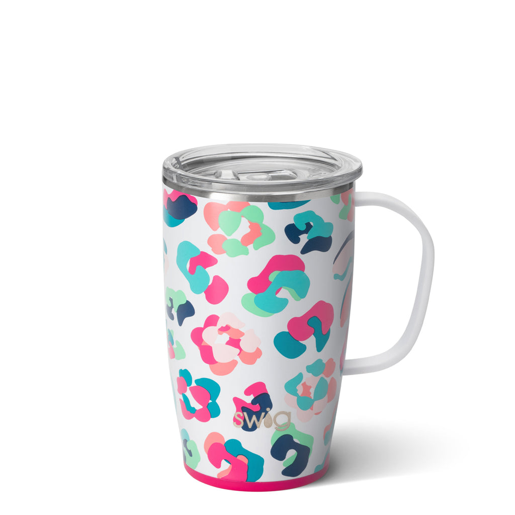 SWIG Mug with Handle {PARTY ANIMAL} Insulated Stainless Steel Mug (18 oz.)