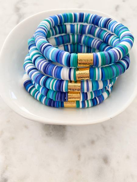 Ocean Water {COLOR POP} Heishi Beads Bracelet