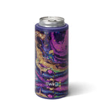SWIG {PURPLE RAIN} Skinny Insulated Stainless Steel Can Cooler (12 oz.)