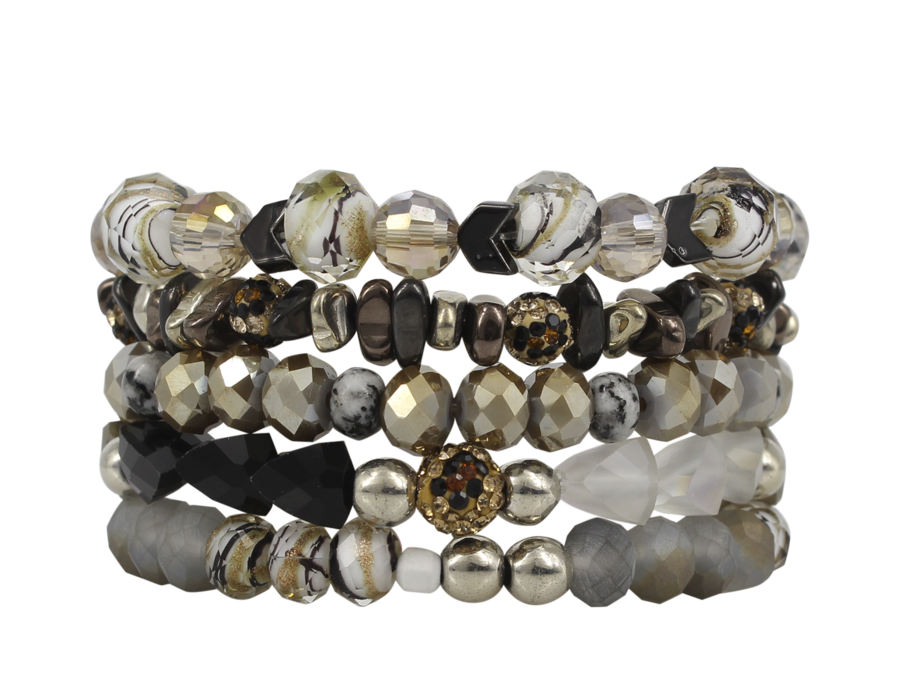 {AMAZON} Erimish LEOPARD Stack {Set of 5 Bracelets}