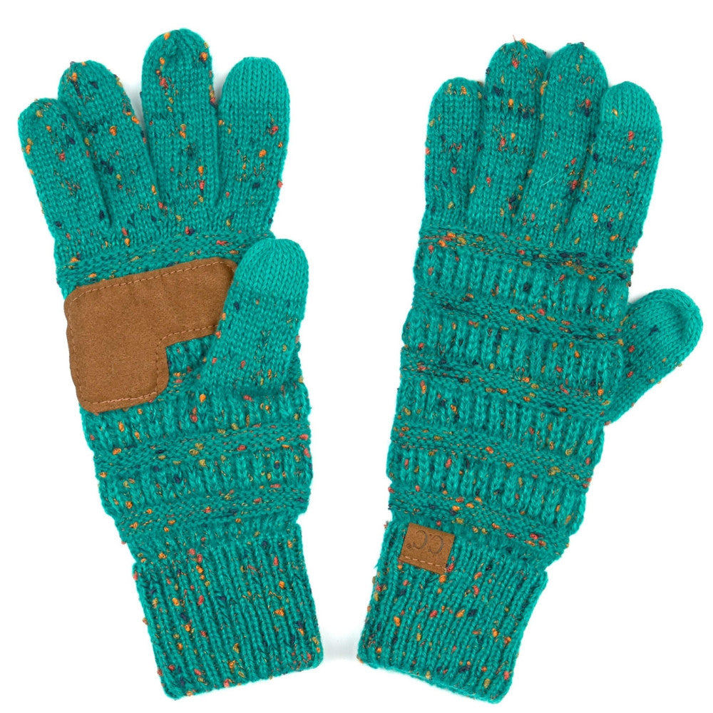 CC Beanie {SEA GREEN} Ribbed Confetti Smart Tip Gloves