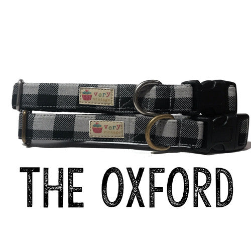 Organic Pet Collar {THE OXFORD} Antique Brass Hardware