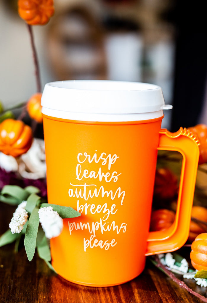 Orange Thermo Mug {{FALL LIST}} 22 oz. With Handle