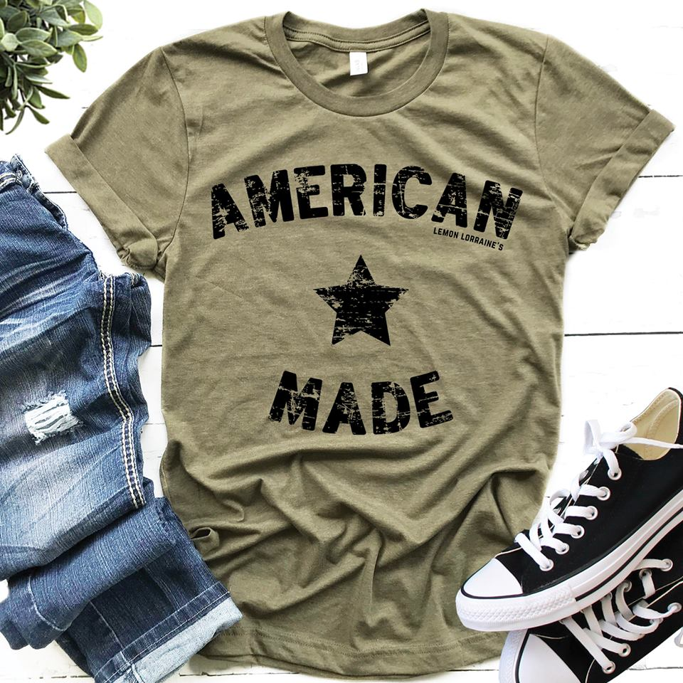 {AMERICAN MADE} Olive Crew Neck Tee