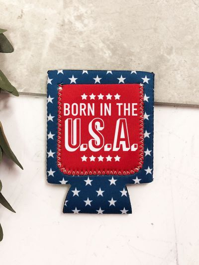 Born in the USA Can Cooler Koozie