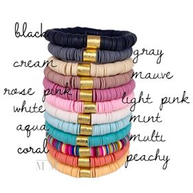 {COLOR POP} Heishi Beads Bracelets (Over 20+ Colors to Choose From!)