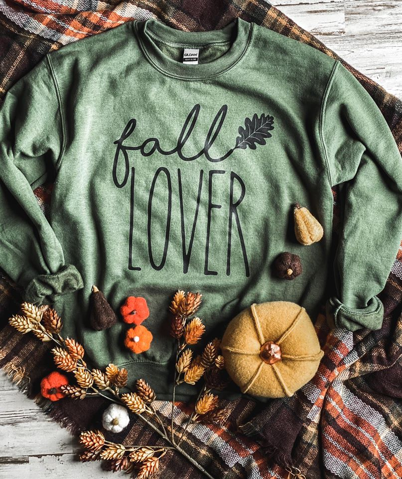 {FALL LOVER} Military Green Sweatshirt