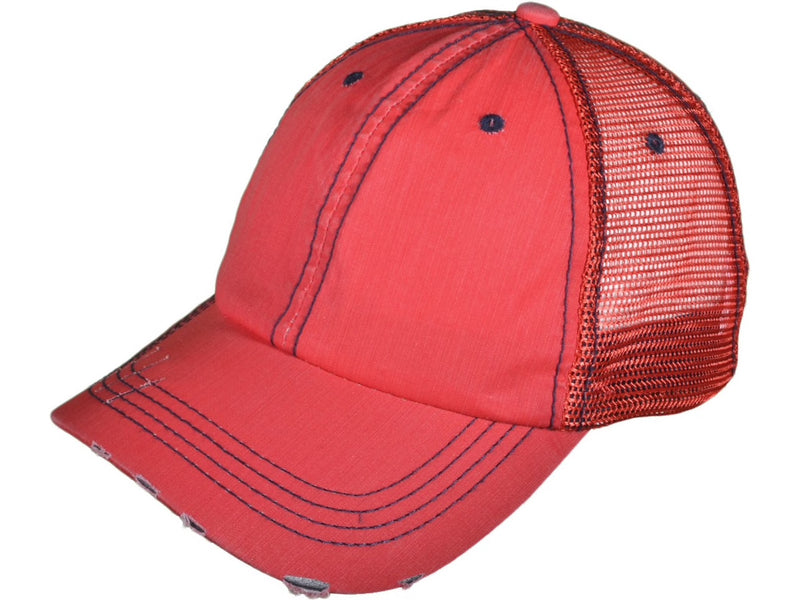 Rooting Rufus RED Distressed Trucker Hat/Cap