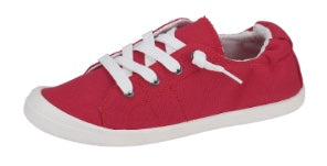 {REBA} Red Slip On Sneakers