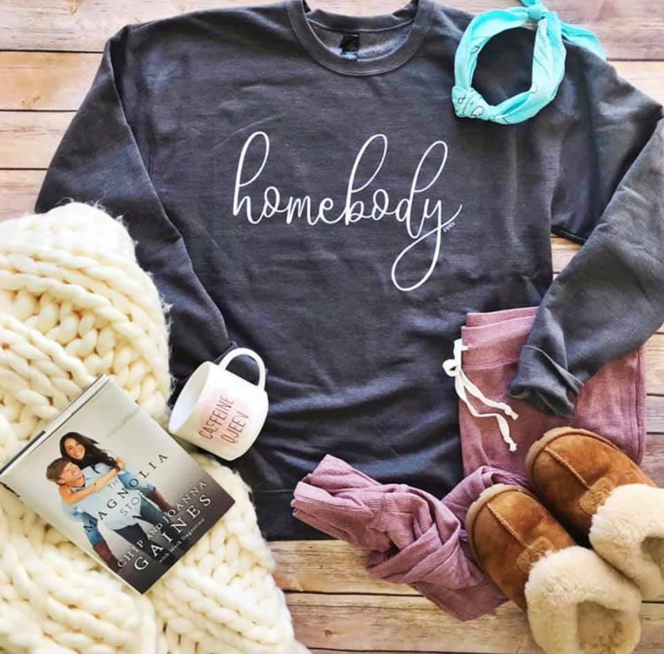 {HOMEBODY} Soft + Comfy Heather Charcoal Sweatshirt {Pre-Order:  Ships in 2-3 Weeks}