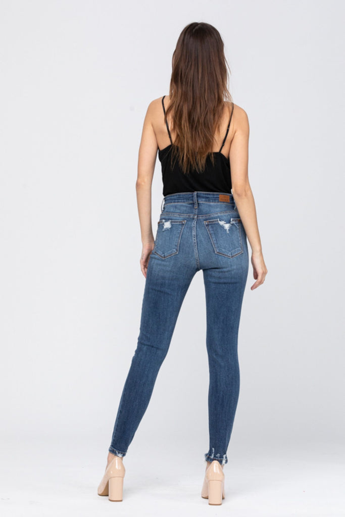 {NATALIE} Judy Blue High Rise Destroyed Skinny Jeans
