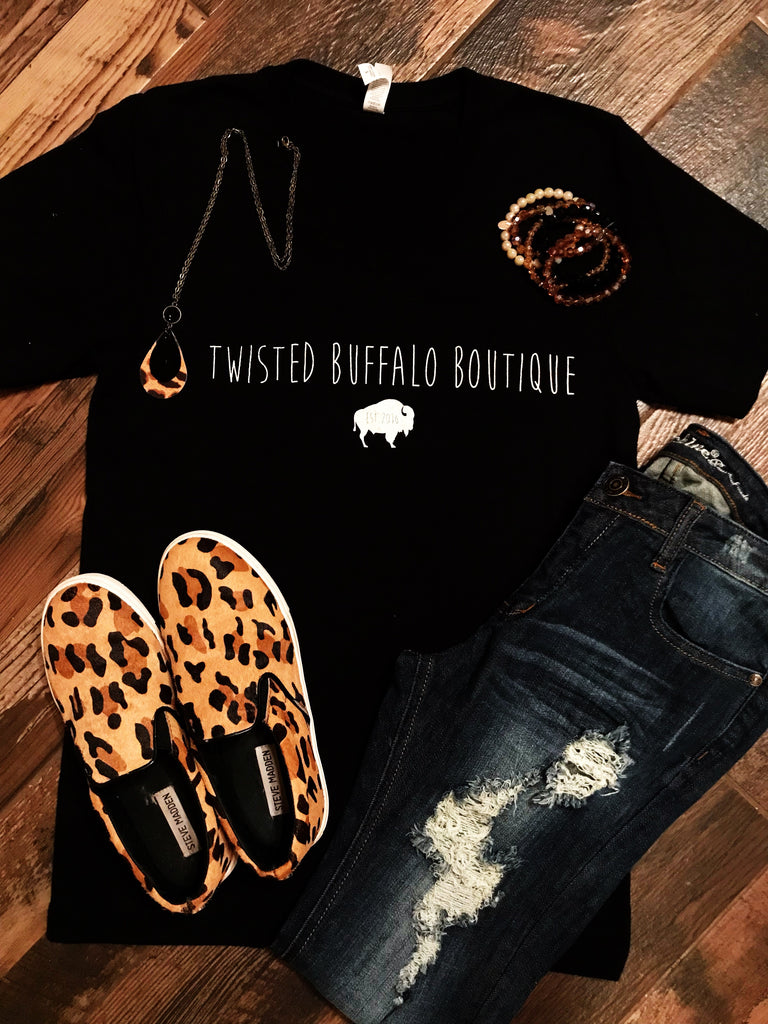Twisted Buffalo Boutique Logo Tee