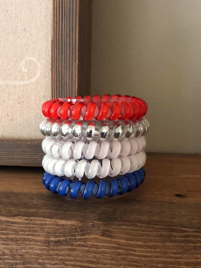 Lady Liberty Patriotic Hair Coil Stack {Set of 5}