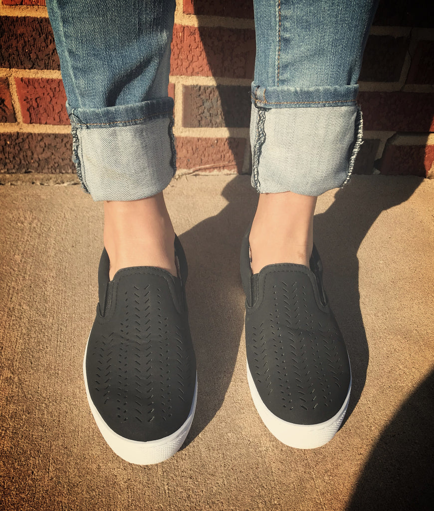 Jennings {Black} Slip On Sneakers