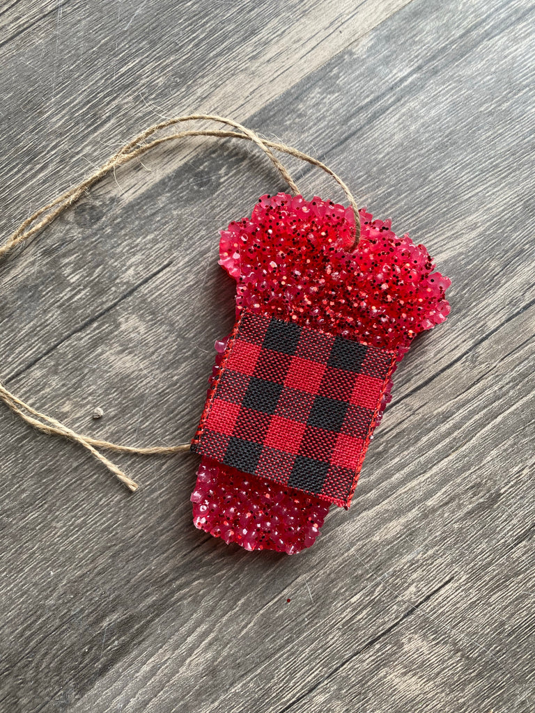{LOVIN' MY LATTE} Buffalo Plaid Red Latte Car Scent
